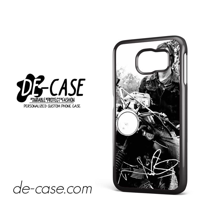 Norman Reedus And His Bike DEAL-8018 Samsung Phonecase Cover For Samsung Galaxy S6 / S6 Edge / S6 Edge Plus