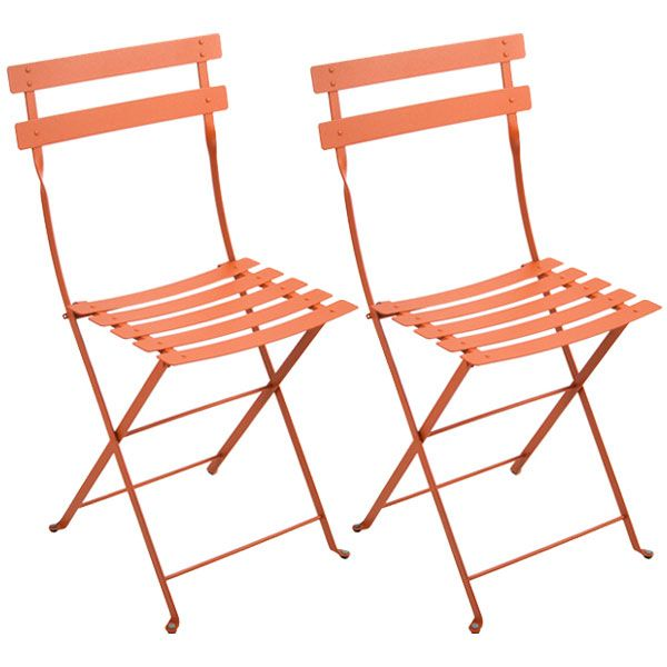 Bistro Metal tuoli, 2 kpl, carrot