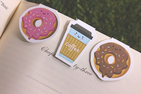 how to make a donut bookmark