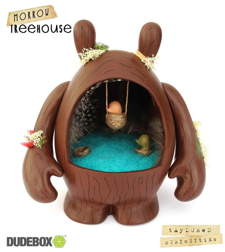 Dudebox custom available now for £150 from @Dudebox Coffee Coffee Vinyl Toys http://www.dudebox.com/products/morrow-treehouse-custom-vinyl-toy #morrow   Copyright Taylored Curiosities