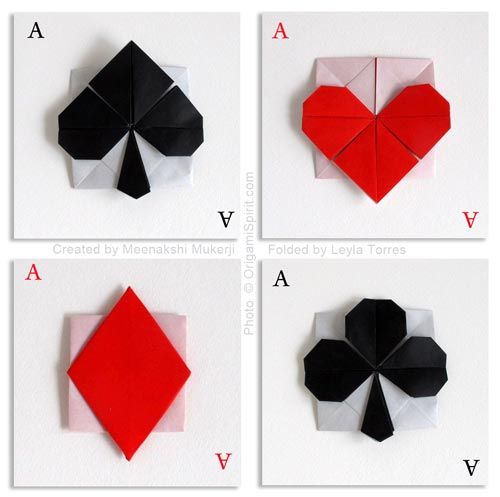 Post image for Playing Card Symbols, Origami Style!