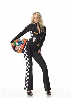 Sexy Nascar Halloween Costume in One Piece Spandex ...