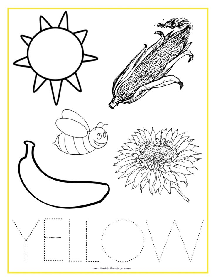 YELLOW Color Activity Sheet | Color activities, Preschool ...