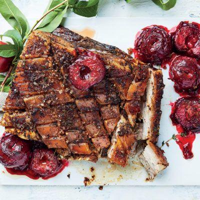 Sumac pork belly with Flavourburst plums