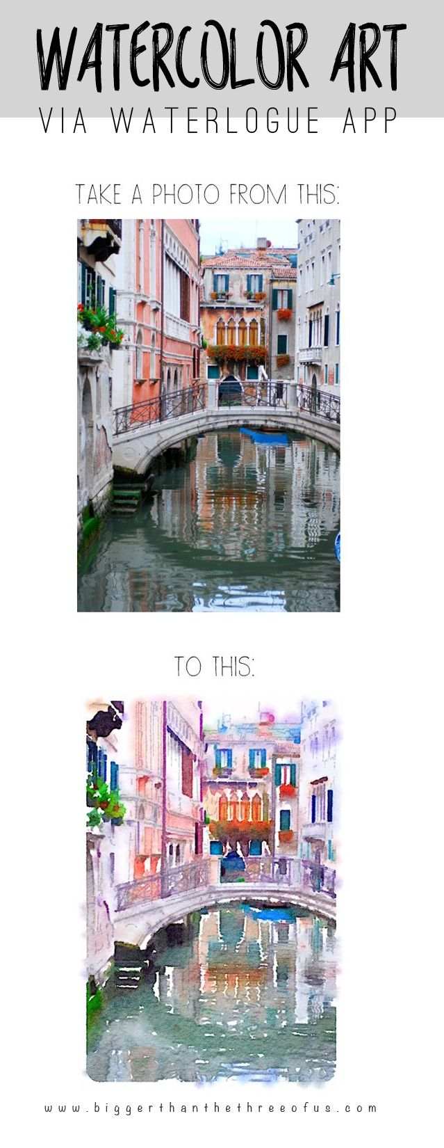 Waterlogue Travel Art : Transform travel pictures into unique pieces of Art using this simple tutorial and App