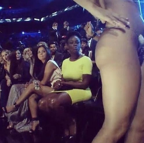 Taylor Swift got caught starting at it. | Lady Gaga's Butt Was The True Star Of The VMAs