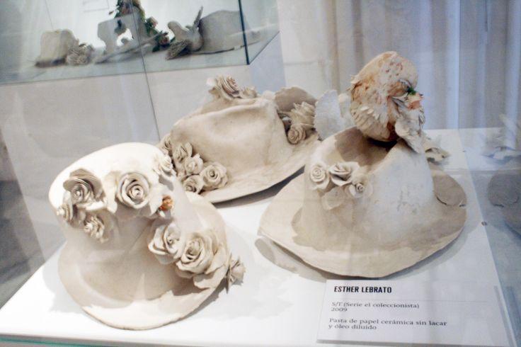 "Esther Lebrato, ""Serie el Coleccionista"" (2009) Ceramics and paper pulp, and various materials."