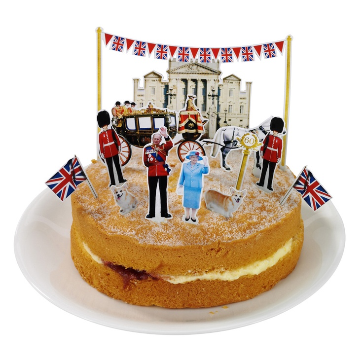 Great British street party cake toppers from Paperchase? As far as my Jubilee spirit goes.