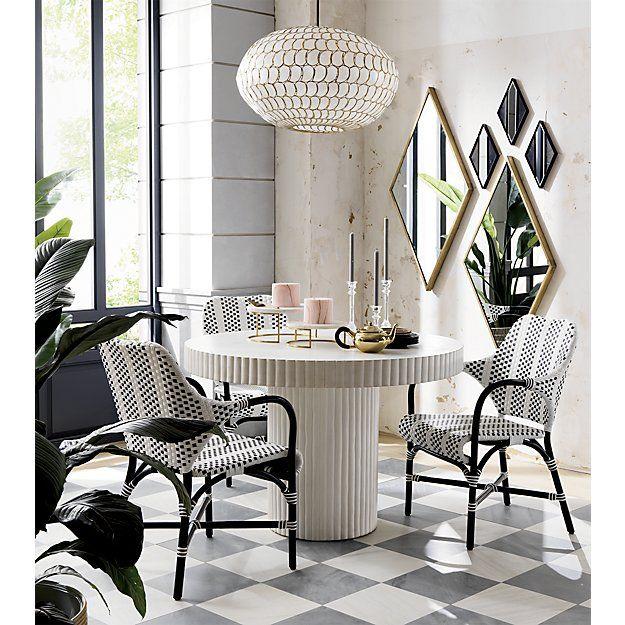 Luna Capiz Pendant Light Reviews Cb2 Modern Dining Room Dining Room Design Dining Room Decor