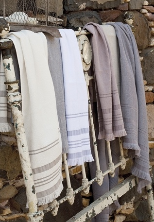 Bamboo woven towels and linens by Chakra