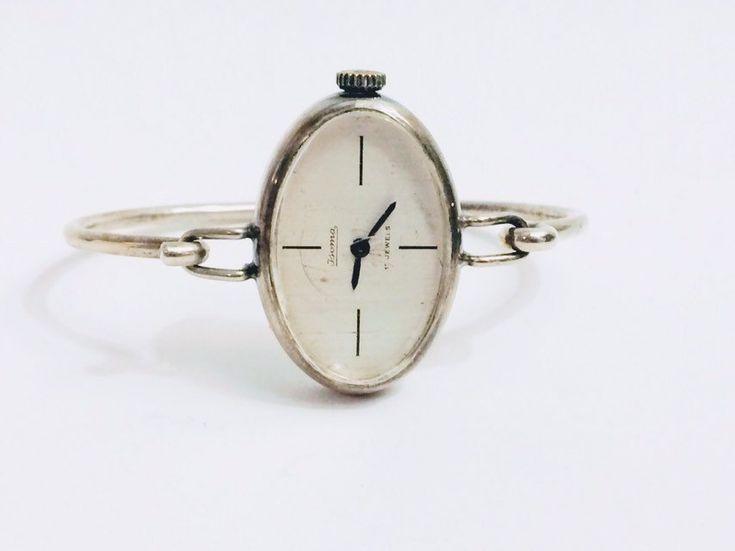 Retro Jsoma Solid 835 Silber Armbanduhr