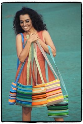 "DOWA Nylon Crochet ""Arini""  Colors Available: Bamboo, Oyster, Pecan, Sage, Sky Blue"