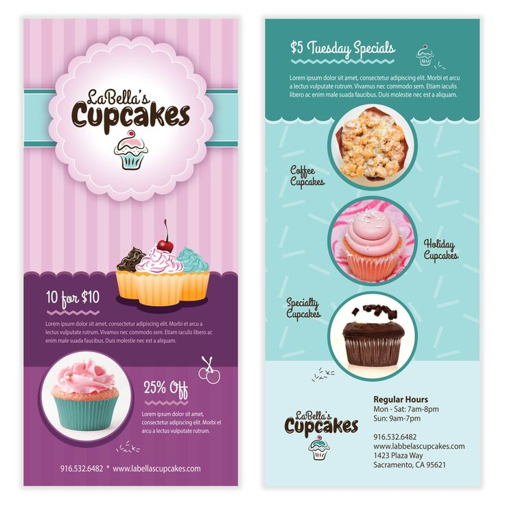 Cupcake Flyer Template 12