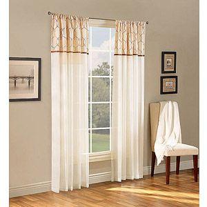 Belle Maison Melrose Reversible Sheer Curtain Panel Walmart Belle And Sheer Curtains