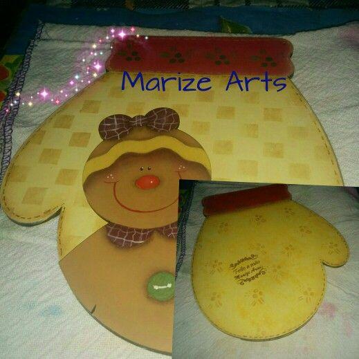 Marize Arts e o Natal 2015 - pintura country e stencil em recorte da Duna Atelier. Estou voltando pouco a pouco.