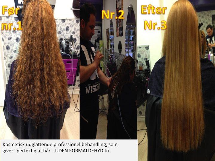 """RELAX system Kosmetisk udglattende professionel behandling, som giver """"perfekt glat hår"""". FORMALDEHYD free"""
