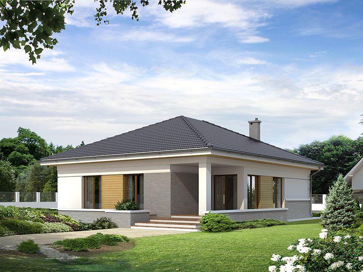 Projekt As 2 (128,3 m2) to parterowy dom o zwartej bryle z kopertowym dachem. Pełna prezentacja projektu dostępna jest na stronie: https://www.domywstylu.pl/projekt-domu-as_2.php. #as #projekty #projekt #gotowe #typowe #domy #domywstylu #mtmstyl #home #houses #architektura #interiors #insides #wnętrza #aranżacje