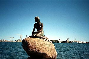 The Little Mermaid of one of H. C. Andersen's fairytales has become a 'pilgrimage place' for many tourists who visit Copenhagen.