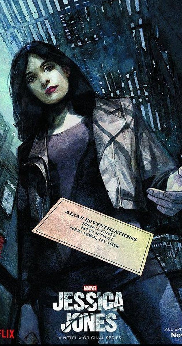 Created by Melissa Rosenberg.  With Krysten Ritter, Mike Colter, David Tennant, Rachael Taylor. A former super-heroine decides to reboot her life by becoming a private investigator.