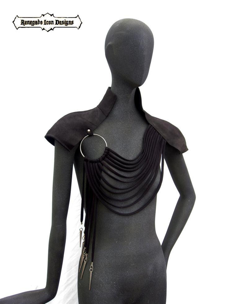 abierto respaldo capa de cuero ropa de hombro club por Renegadeicon