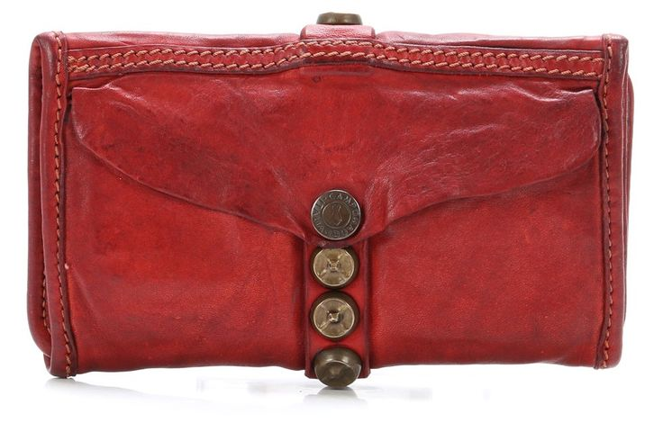wardow.com - #Campomaggi, Lavata Geldbörse Damen Leder rot 18 cm