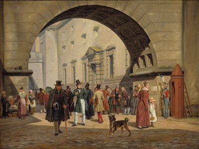 Martinus Rørbye (1803-1848), The Prison of Copenhagen, 1831