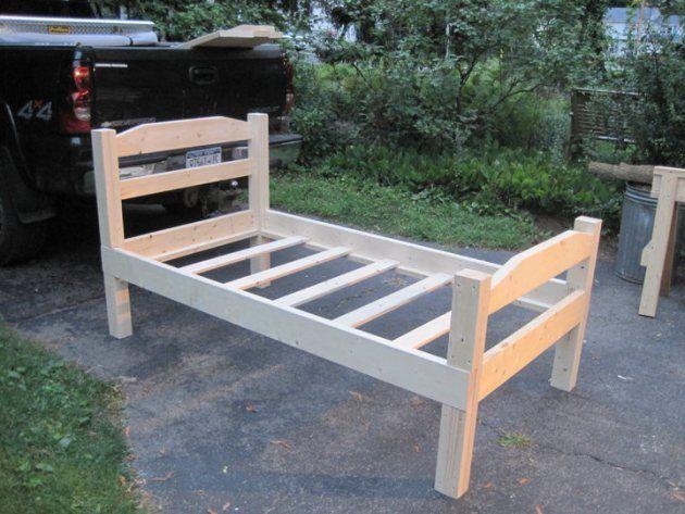 diy wooden bedframe | DIY Wood Twin Bed Frame Plans PDF Plans UK USA NZ CA