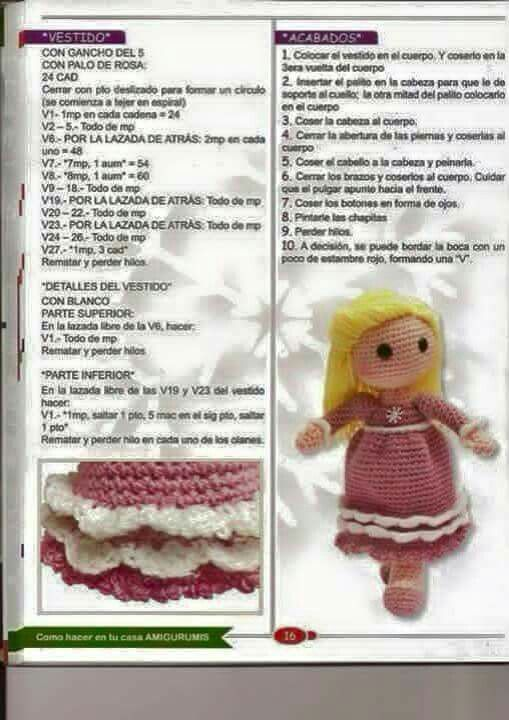 Pin by Thank you, Lord & Handmade Hugs Crochet on Crochet-dolls ...
