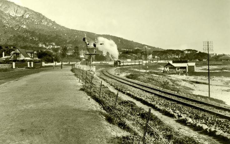 Here comes the train.........c1898. | Taken in the region of St Johns Rd.