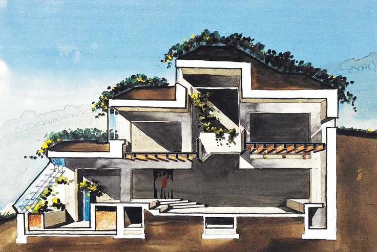 Locust Hills Project by Malcolm Wells, published in Popular Science 1989 #architecture