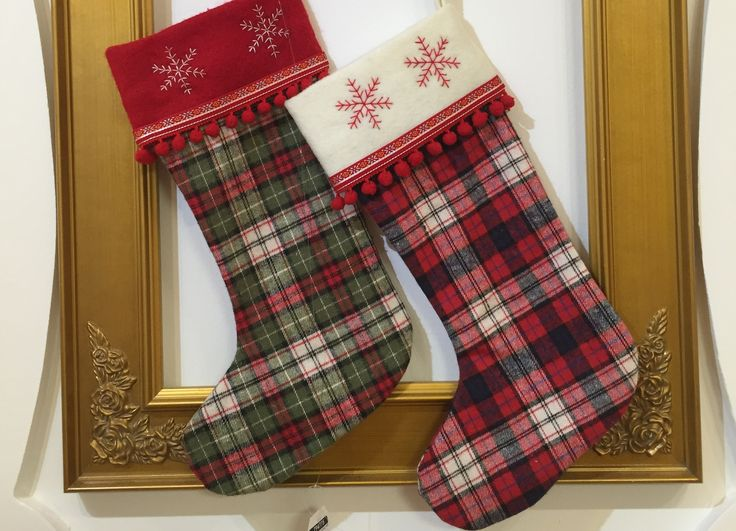 Stunning tartan stockings to fill with plenty of goodies!