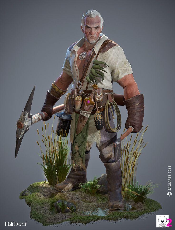 Half Dwarf Game character (Хэзээ нэгэн өдөр ингэж хийдэг болсон байна...)
