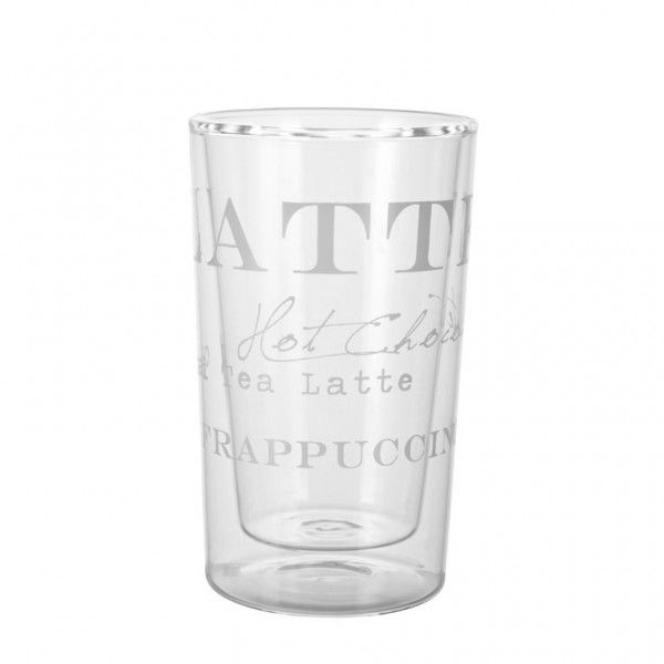 'AGNES' collection caffe latte glass by Lene Bjerre