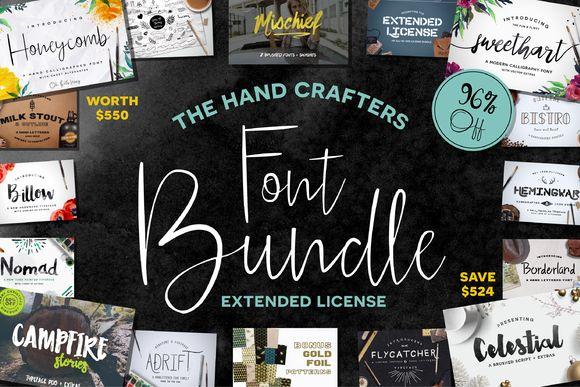 HandCrafters Font Bundle - 96% OFF by Flycatcher Design on Creative Market
