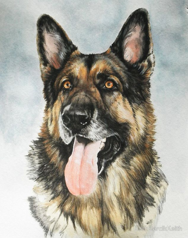 Beautiful German Dog Painting. This would look soooo nice on one of my pendants.