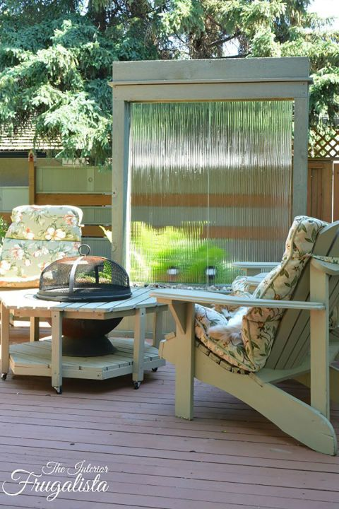 This massive fountain won't come together quickly, but it's well worth the time and effort. Blogger Marie moved her water wall onto her deck so company could enjoy the relaxing sound of water while they chatted. Get the tutorial at Interior Frugalista.