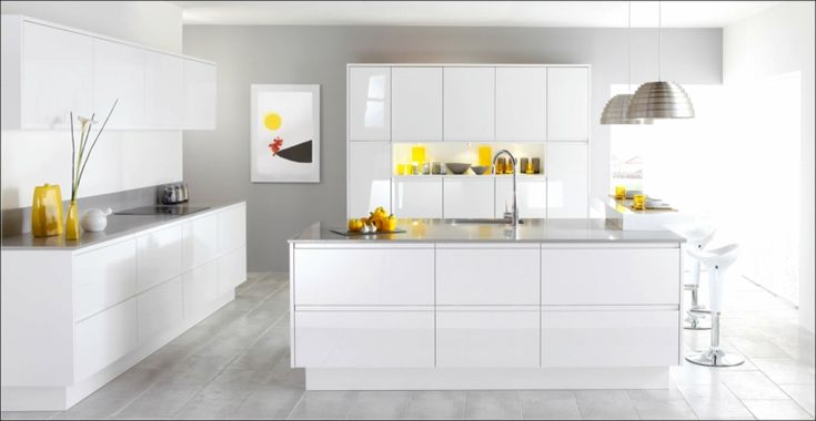 396 best cucine images on pinterest - Mobili laccati bianchi ...