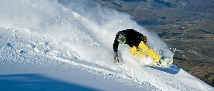 Carving the slopes: Snowboarding in Queenstown