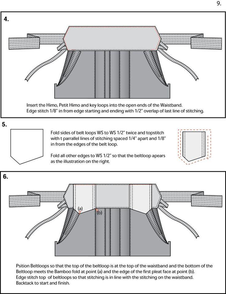 Hakama sewing Guide 7