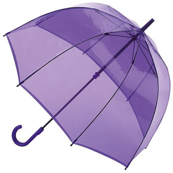 Fulton Birdcage Manual Umbrella , Transparent Purple (1,200 INR) ❤ liked on Polyvore featuring accessories, umbrellas, umbrella, transparent umbrella, purple umbrella, fulton umbrella, transparent dome umbrella and see through umbrella