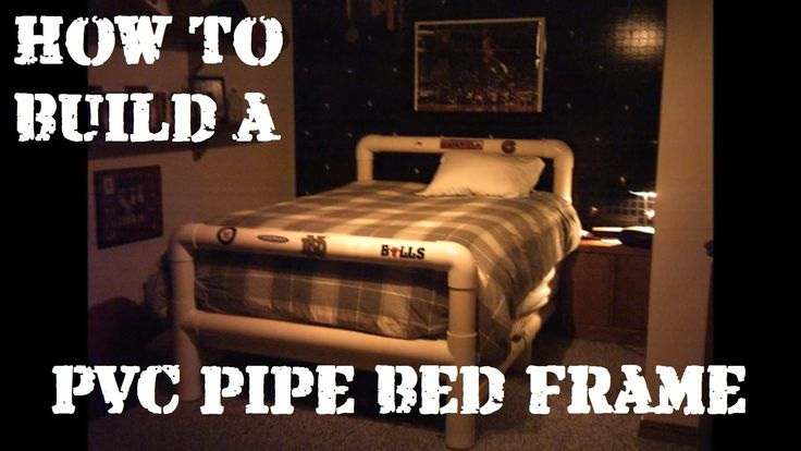 How to Build a Bed Frame from PVC Pipe | PVC Projects ...