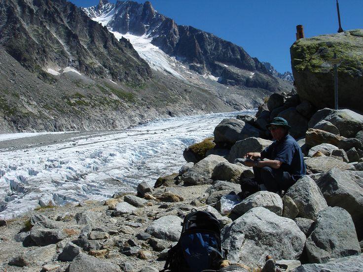 Alpine glacier.