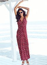 White Heart Print Maxi Dress #shiptoshore