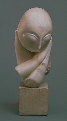 Brancusi, Mademoiselle Pogany  Lange en intensieve studie van gezichten. Hij probeert het hoofd terug te brengen terug te brengen naar de noodzaak. Alles is naar grondvormen terug gebracht