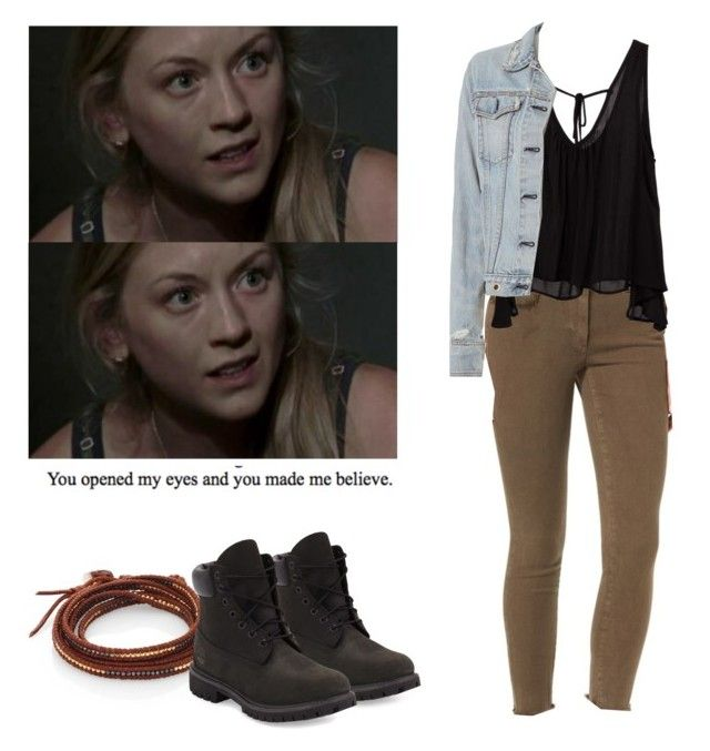 Beth Greene with black timberlands - twd / the walking death by shadyannon on Polyvore featuring polyvore fashion style rag & bone True Religion Chan Luu Timberland clothing