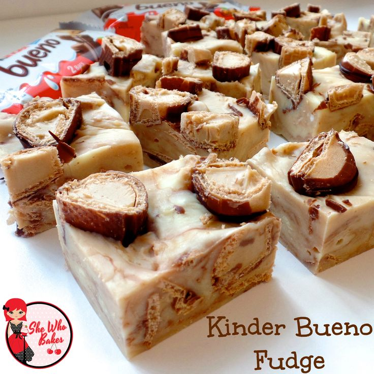 Kinder Bueno Fudge - She Who Bakes                                                                                                                                                     More
