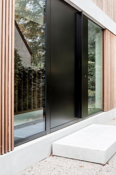 Opstap voordeur beton /// house M | de pinte - Projects - CAAN Architecten / Gent