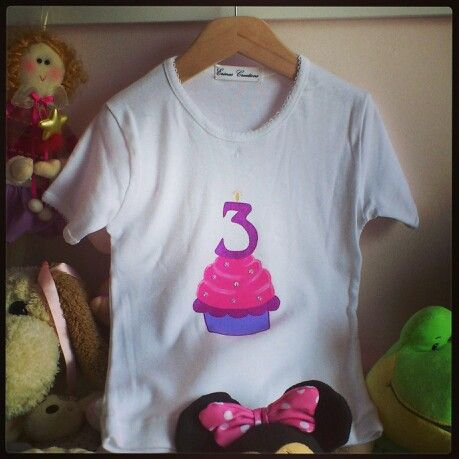 Personalized cupcake birthday top