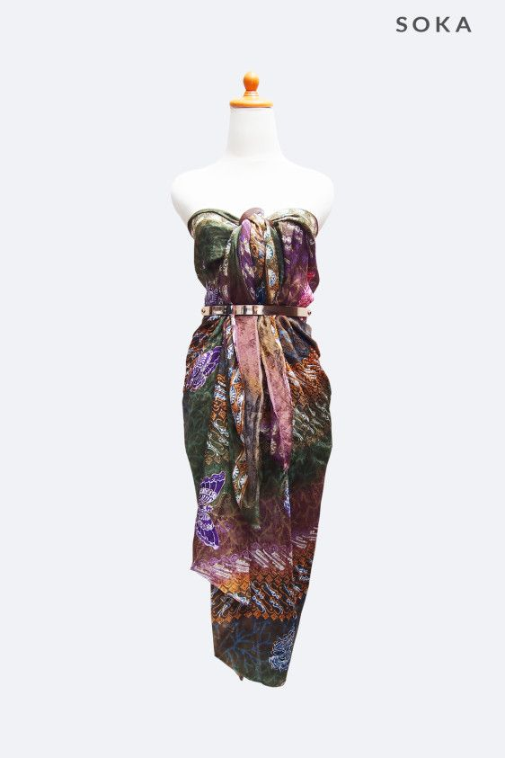 Perfect gift for her, $25 Multicolor batik sarong or pareo, the material is from dobby, it is perfect for summer day, or casual wear. You can wear it as wrap dress or wrap skirt, the style can be as long or mini skirt. #giftforher