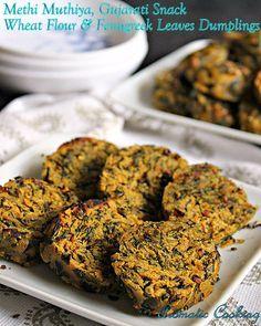 Methi Muthiya, Wheat Flour & Fenugreek Leaves Dumplings